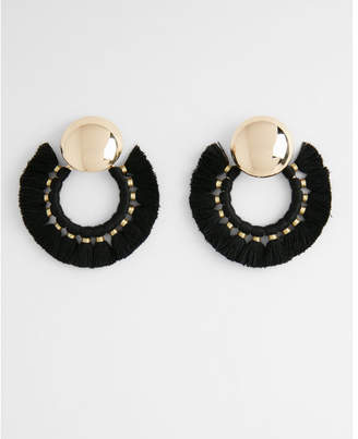 Express tassel hoop earrings