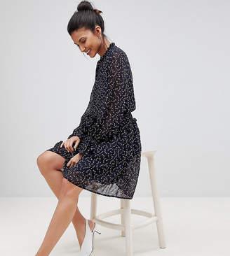 Y.A.S Tall printed mini soft skater dress