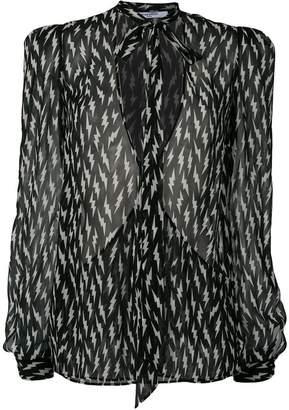 Givenchy lightning long-sleeve blouse