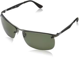 Ray-Ban Men's Metal Man Polarized Square Sunglasses