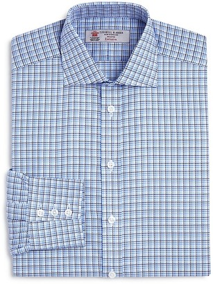 Turnbull & Asser Textured Check Classic Fit Dress Shirt $365 thestylecure.com