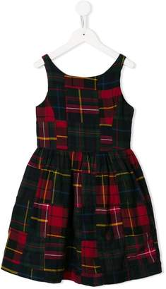 Ralph Lauren Kids sleeveless tartan dress