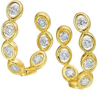 Oasis Gumuchian 18K Yellow Gold Diamond Curve Earrings
