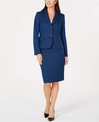 Le Suit Textured Skirt Suit