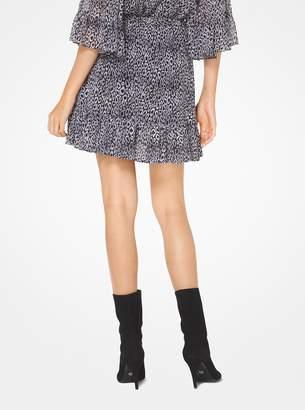 MICHAEL Michael Kors Leopard Georgette Skirt