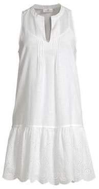 Vineyard Vines Pintucking& Eyelet Mini Dress