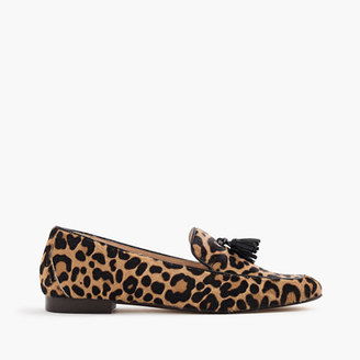 Charlie tassel loafers in leopard calf hair $298 thestylecure.com
