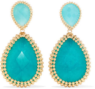 Rosantica Vita Gold-tone Stone Clip Earrings - Blue
