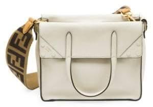 Fendi Women's Small Flip Crossbody Bag - Ice White
