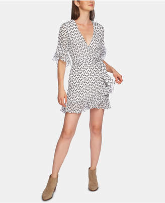 1 STATE 1.state Short-Sleeve Ruffly-Flounce Dress