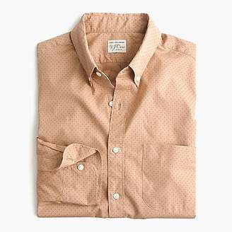 J.Crew Tall stretch Secret Wash shirt in dotted bronze