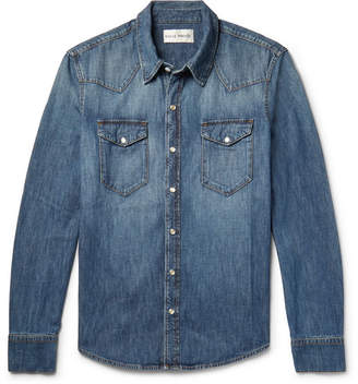 Privee SALLE Rohe Slim-Fit Washed-Denim Western Shirt