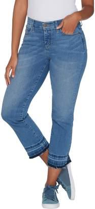 Isaac Mizrahi Live! Petite TRUE DENIM Boot Cut Crop Jeans