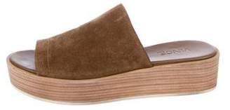 Vince Suede Slide Sandals