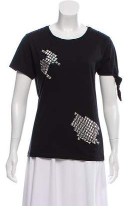 J.W.Anderson Short Sleeve Stud-Accented Top
