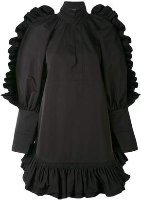 Ellery ruffle hem mini dress