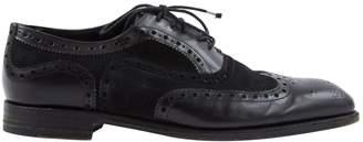 Barker Black Black Leather Lace ups