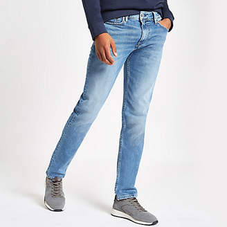 River Island Pepe Jeans blue Luke slim fit tapered jeans