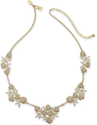 """Kate Spade Gold-Tone Crystal Flower Collar Necklace, 16"""" + 3"""" extender"""