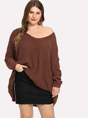 Shein Plus Oversized Solid Sweater