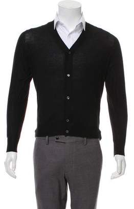Gucci Vintage Cashmere-Blend V-Neck Sweater