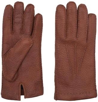 Dalgado Handmade Peccary Leather Gloves Brown Camillo