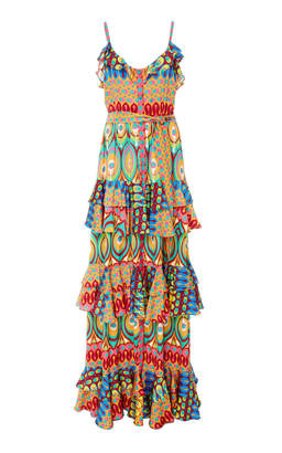 Alexis Harmone Layered Printed Maxi Dress