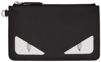 Fendi Black Bag Bugs Small Coin Pouch Wallet