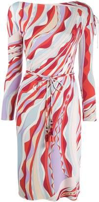 Emilio Pucci Tie Waist Wrap Dress