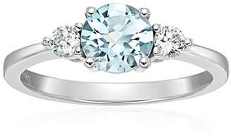 14k Rose Gold Morganite And Diamond 3-stone Engagement Ring