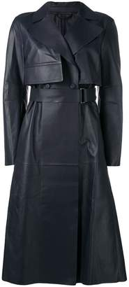 Sportmax leather trench coat