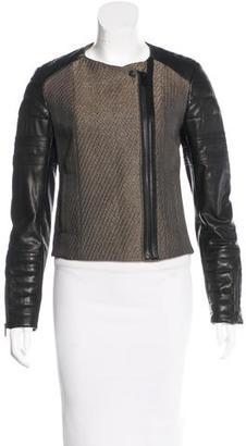 AllSaints Leather Zip Jacket $165 thestylecure.com