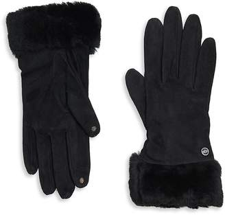 UGG Women's Shearling-Accented Gloves