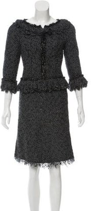 Chanel Metallic-Accented Tweed Skirt Suit $900 thestylecure.com