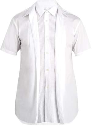 Comme des Garcons Double-layered short-sleeved cotton shirt