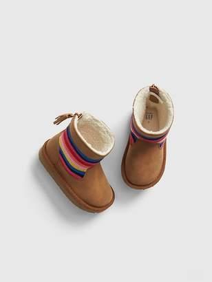 Gap Crazy Stripe Sherpa Boots