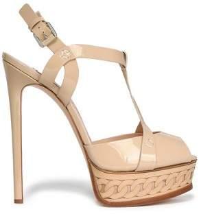 Casadei Cutout Patent-leather Platform Sandals