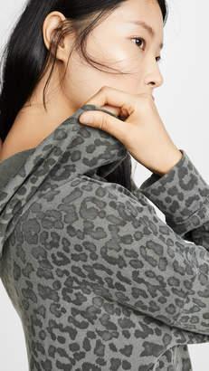 Sundry Leopard Drawstring Hoodie