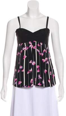 Yumi Kim Sleeveless Floral Print Top