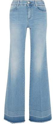 Stella McCartney Frayed Wide-Leg Jeans