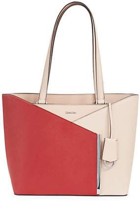 Calvin Klein Mara Leather Tote Bag