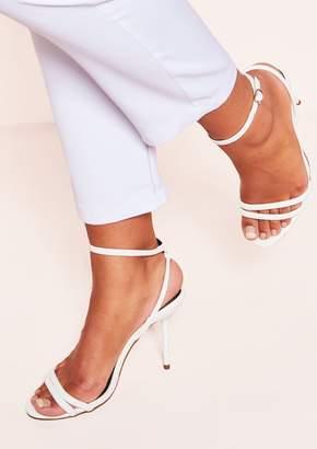 8abfe1e713 Missy Empire Missyempire Mariah White Strappy Heeled Sandals