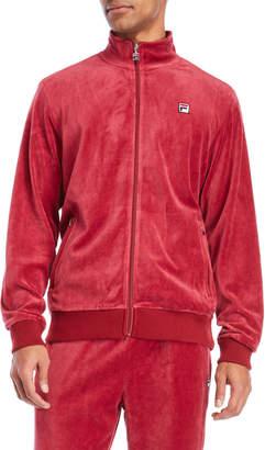Fila Mock Neck Velour Zip-Up Jacket