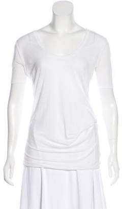 Helmut Lang Scoop Neck Short Sleeve Top