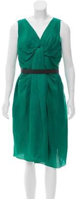 Lanvin Sleeveless Silk Dress