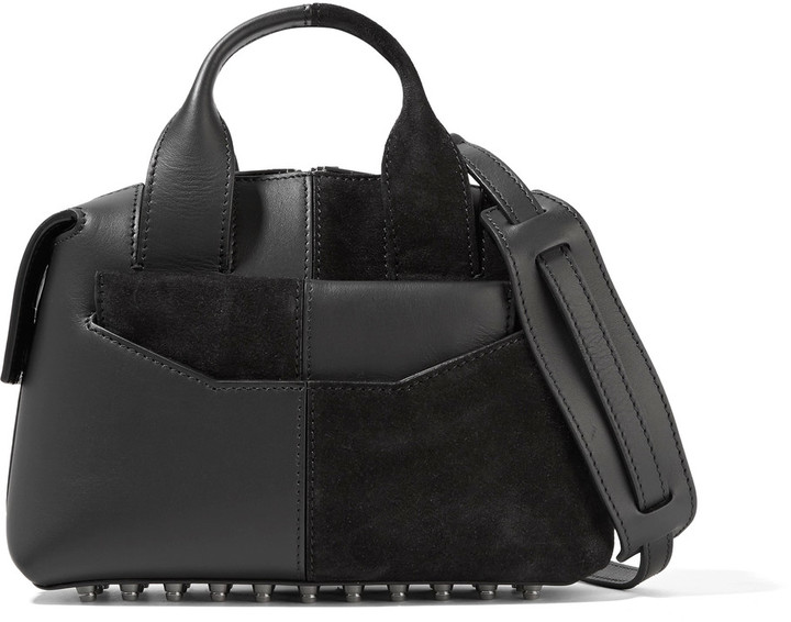 Alexander Wang Alexander Wang Rogue suede and leather shoulder bag