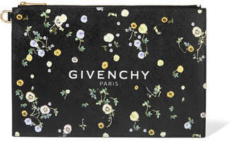 Givenchy Bloom Floral-print Coated-canvas Pouch - Black