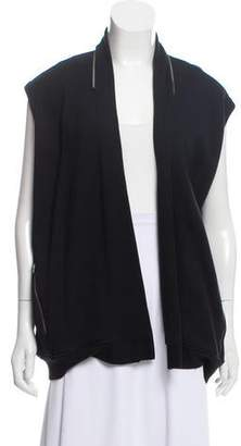 AllSaints Open Front Sweatshirt Vest
