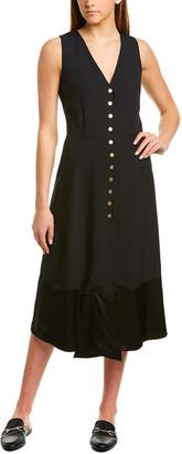 Derek Lam Crepe Silk-Lined Midi Dress