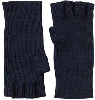 Banana Republic Merino Wool Fingerless Rib Gloves